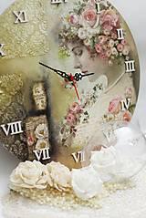 Hodiny - Vintage nástenné hodiny - 13208313_
