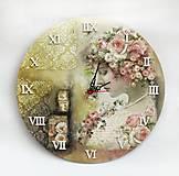 Hodiny - Vintage nástenné hodiny - 13208314_