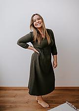 Šaty - Mušelínové šaty Dominika  (Trojštvrťový rukáv) - 13208643_