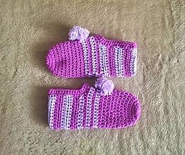 Obuv - Ručne háčkované papuče CUKROVÁ VATA - 13207008_