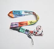 Kľúčenky - Textilná šnúrka na krk so srdiečkom - liečivá (šnúrka bez srdiečka) - 13210057_