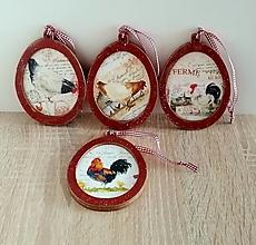Dekorácie - drevené vidiecke vajíčka - 13210113_