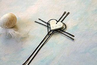 Dekorácie - Tepaný krížik biely 21 cm - 13207554_