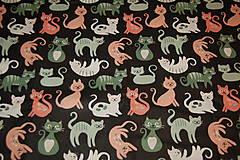 Textil - mačky metráž - 13209354_