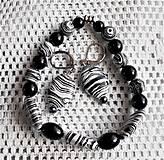 Sady šperkov - Čierno- biely magnezit a ónyx - 13211696_