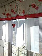 Úžitkový textil - Záclona maky - 13211290_
