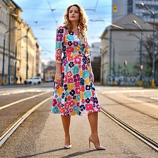 """Šaty - GRÉTA - zavinovacie šaty """"art kvety"""" - 13212810_"""