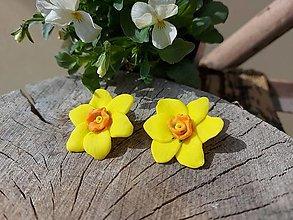 Náušnice - Narcisy - 13214464_