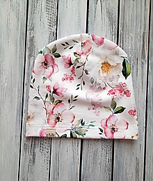 Detské čiapky - čiapka a nákrčník ružový kvet - 13210962_