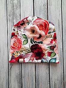 Detské čiapky - čiapka a nákrčník kvet - 13210995_