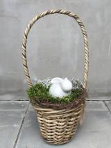 Dekorácie - zajko v ratanovom košíku - 13213497_