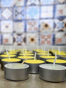 Svietidlá a sviečky - Sójové čajové sviečky - 13210936_