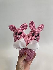 Úžitkový textil - srdiečko /ružové ušaté / - 13213660_