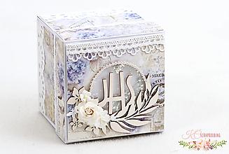 Papiernictvo - Darčeková krabička k 1. sv. prijímaniu / birmovke V - 13217678_