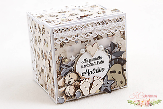 Papiernictvo - Darčeková krabička ku krstu III - 13217740_