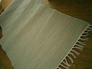 Úžitkový textil - tkany koberec sivy - 13216268_
