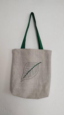 Nákupné tašky - Taška z plátna - list nádeje - 13218334_
