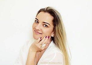 Prstene - ružový Opál - 13215712_