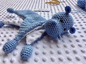 Hračky - Mojkáčik hrošík - modrý - 13216892_