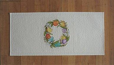 Úžitkový textil - Obrus, štóla na stôl s tulipánmi (2) - 13217629_