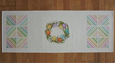 Úžitkový textil - Obrus, štóla na stôl s tulipánmi (1) - 13217707_