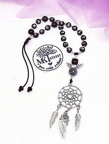 Iné šperky - Lapač snov do auta  (Čierny) - 13217603_