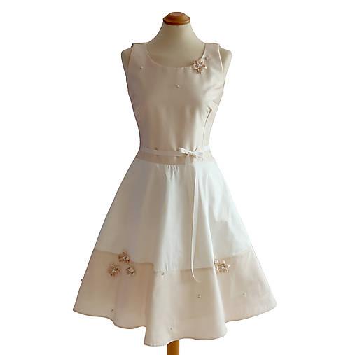 Rimini - elegantné svadobné šaty, 100% hodváb