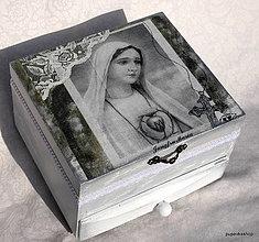 Krabičky - Šperkovnica Madona - 13214648_