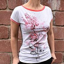 Tričká - Dámské tričko Vanda - Růže - 13215656_