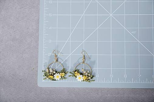 "Kvetinové kruhové náušnice ""dotyk slnka 2"""
