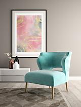 Grafika - Art Print-Plagát-Abstraktná maľba ružovo šedá II. - 13215680_