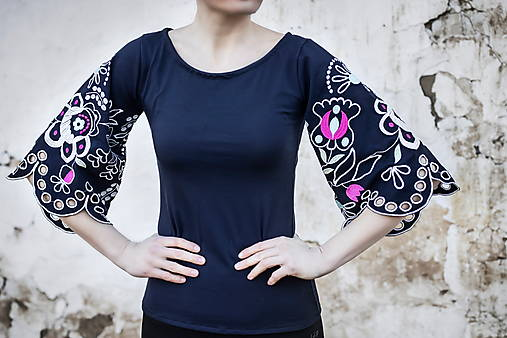 Vyšívané tričko Očovianka