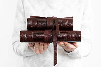 Papiernictvo - Kožený zápisník Frederika - 13218675_