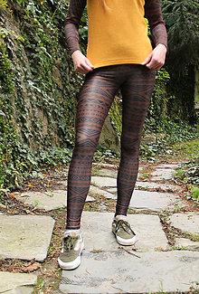 Nohavice - Športové legíny- Aztec brownies  (XS/S sporty) - 13218573_