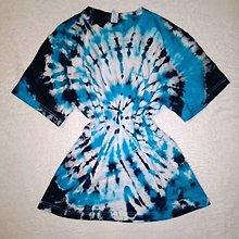 Tričká - Batikované tričko - 13218697_