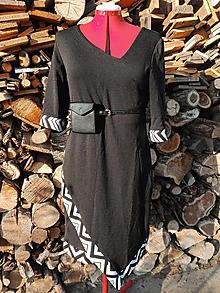 Šaty - Asymetrické čierne šaty - 13214867_