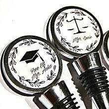 Darčeky pre svadobčanov - zátka na fľašu k promócii - text na želanie - 13216151_