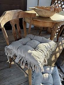 Úžitkový textil - Ľanový podsedák Rustical - 13218265_