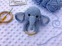 Hračky - Hrkálka sloník - 13221794_