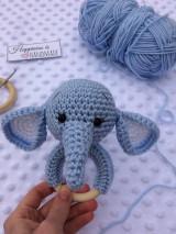Hračky - Hrkálka sloník - 13221796_