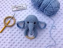 Hračky - Hrkálka sloník - 13221797_