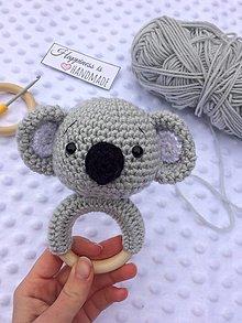 Hračky - Hrkálka koala - 13221753_