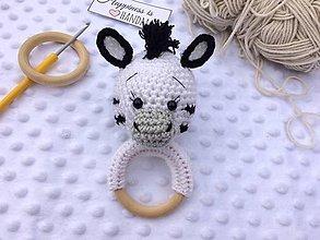 Hračky - Hrkálka zebra - 13221787_