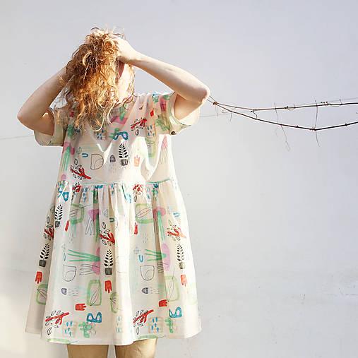 Šaty - šaty Botanic - 13222256_