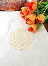 Úžitkový textil - Vrecko na chlieb Kvet života I. - 13219400_