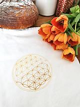 Úžitkový textil - Vrecko na chlieb Kvet života II. - 13219413_