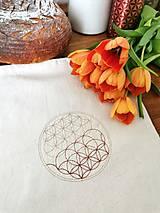 Úžitkový textil - Vrecko na chlieb Kvet života III. - 13219430_