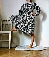 Šaty - Ľanové šaty - 13220732_