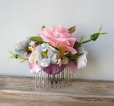 """Ozdoby do vlasov - Kvetinový hrebienok """"Alica"""" - 13220965_"""
