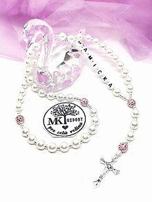 Iné šperky - Ruženec perličky akryl - 13220615_